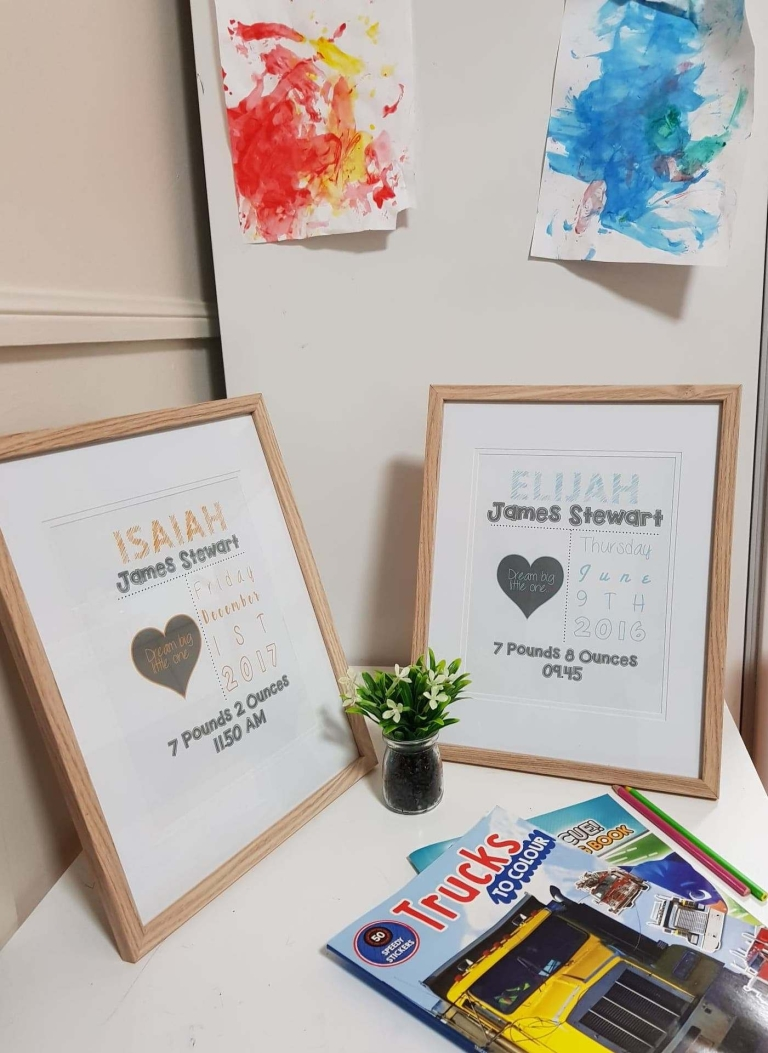 Boys name prints
