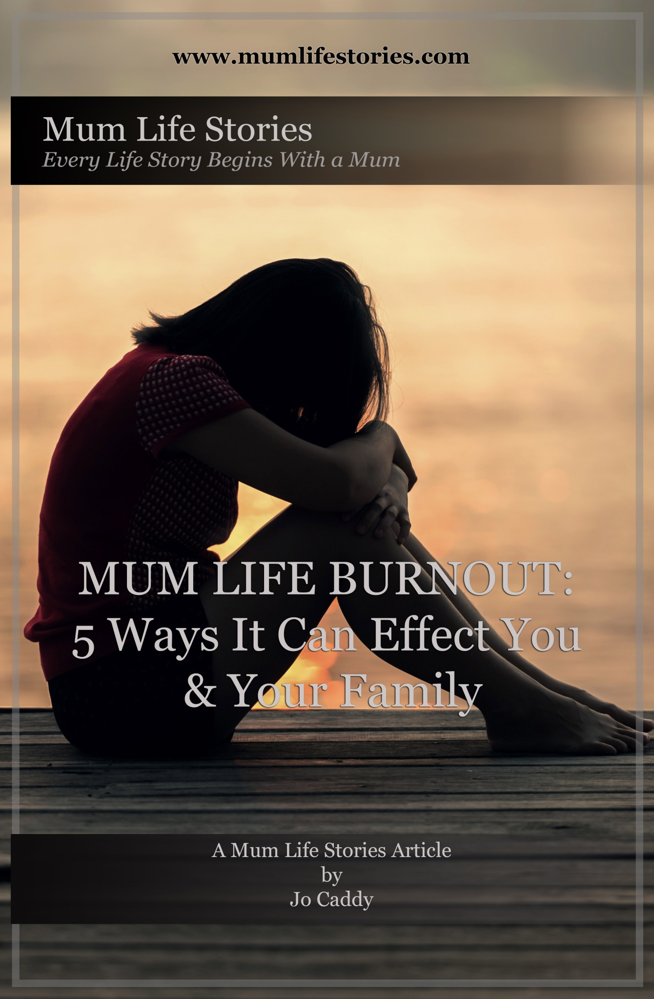 mum life burnout article cover