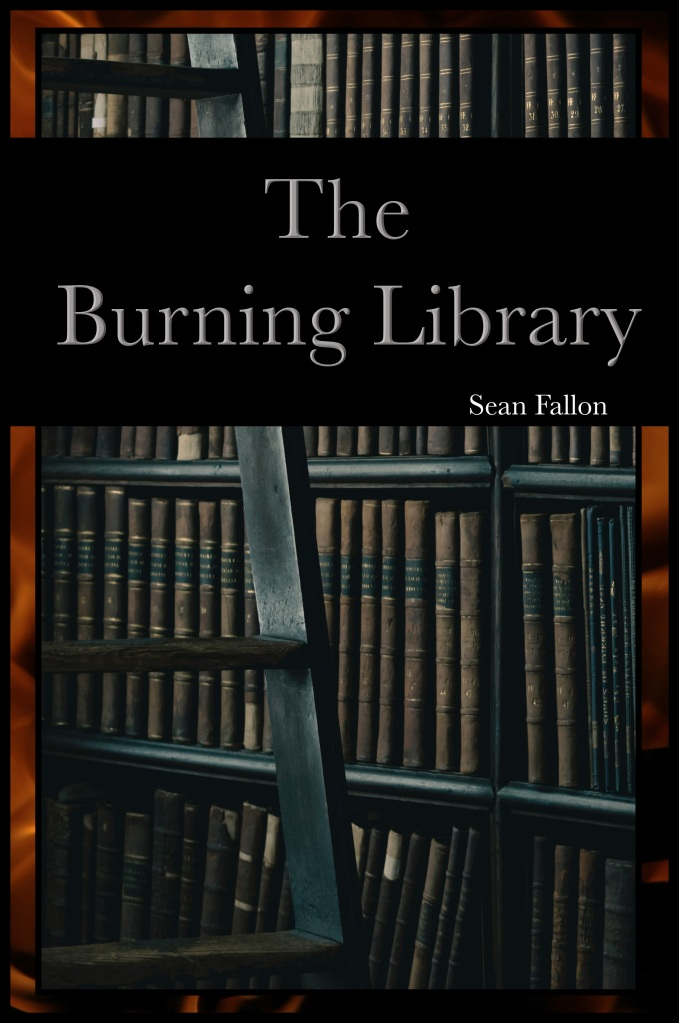 burning library cover