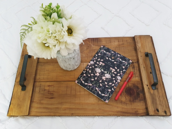 tray with notepad